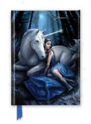 Blue Moon Foiled Notebook - Anne Stokes